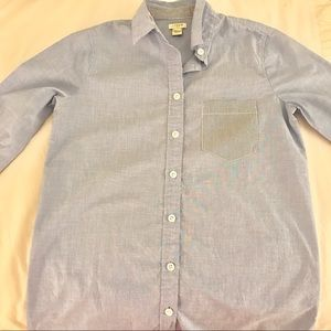 J. Crew Light Blue Button down Tunic Top size XS